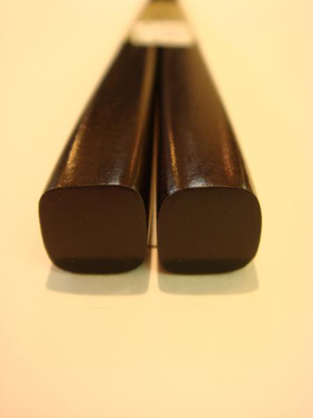 黒檀一半箸